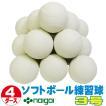 超特価 ソフトボール3号練習球 (スリケン・検定落ち・ナイガイ製) 4ダース (48球入り) Training-soft3-48