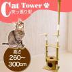 キャットタワー 猫タワー 突っ張りタイプ 猫タ 爪とぎ ベージュ ネコタワー キャットランド キャットツリー