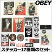 OBEY オベイ ステッカー17種類入りセット メンズ STIC...
