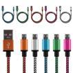 スマホ iPhone USBケーブル 充電ケーブル MicroUSB An...