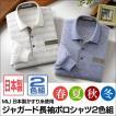 ポロシャツ 長袖 メンズ 2色セット かすり糸使用 ジャガード織り MIJ 日本製