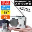 ラジカセ 小型 コンパクト ラジオ AM FM ワイドFM 対応 カセット プレイヤー レコーダー 再生 録音 防災グッズ 非常用 災害時 停電時 停電対策