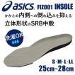 インソール 中敷 asics アシックス FIZ001 抗菌防カビ加工 取り替え式 洗濯可 立体形状 SRB中敷 あすつく対応