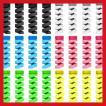 ケーブルプロテクター 断線防止 ケーブル収納カバー ツイスト カラー TPU素材 2 色 24セット 3.7cm (6色)