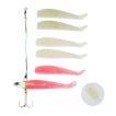 オルルド釣具 釣り具 ルアー ワインドルアー 夜光 ジグヘッド 10.7cm 26g 3色 6個セット