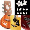 桜ステッカー ギター ウクレレのボディ、ヘッドや ピックガードに