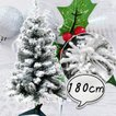 クリスマスツリー180cm フロスト 雪 スノーツリー ワイド 北欧 おしゃれ  【T】