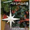 ベツレヘムの星のようなオーナメントです ベツレヘム スター クリスマスの星 スター 星 φ10cm シルバー 【J】