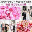 フラワーシャワー 造花 花びら 1200枚 ハピネス ウェディング ビューティフル パーティ 華やか 結婚式 演出 サプライズ