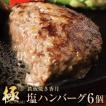 矢巾町 ふるさと納税 鉄板焼き香月の【極・塩ハンバーグ】前沢牛100%(6個セット)