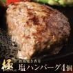 矢巾町 ふるさと納税 鉄板焼き香月の【極・塩ハンバーグ】前沢牛100%(4個セット)