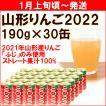 ジュース 「山形りんご新春しぼり2020」 100%ストレートジュース 190g×30缶 送料込