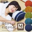 枕 そば殻 昔ながらのそばがら枕 Mサイズ (約52×22cm) 5色展開 日本製 側地綿100% 通気 吸湿 SAIKORO 彩転 サイコロ 和まくら
