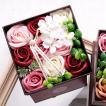 母の日 プレゼント ソープフラワー 入浴剤 ギフト アンティークボックス 造花 アレンジメント