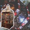 間接照明 スタンドライト ♪モザイクビーズのランタン(LED付)♪ アジアン照明 バリ おしゃれ LED キャンドル ランタン アンティーク 卓上 エスニック