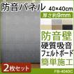 硬質吸音フェルトボード 防音パネル 吸音 防音壁 フェルメノン (Do) 約40×40cm 2枚入 近隣トラブル