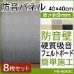 硬質吸音フェルトボード 防音パネル 吸音 防音壁 フェルメノン (Do) 約40×40cm 8枚入 音楽 楽器演奏