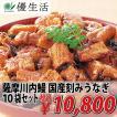 薩摩川内鰻 国産 刻み うなぎ 10袋 セット