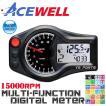 【正規品】ACEWELL完全防水マルチメーターC[15,000rpm指針モデル]NSR50/NSR80/NSR150/NSR250/エイプ100/モンキー/ゴリラ/ダックス/シャリー等