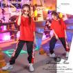 キッズダンス衣装 ヒップホップ HIPHOP セットアップ ダンストップス ダンスパンツ 子供 男の子 女の子 ガールズ チア ジャズダンス ステージ衣装 練習着 応援団
