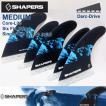 SHAPERS FIN:CORE-LITE [MEDIUM] 6fins FUTUREプラグ対応 M-size シェイパーズフィン