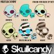Skullcandy:スカルキャンディー カラーロゴステッカー 2枚セット (正規品)/郵便発送対応