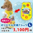犬服名前入り夏用愛犬の写真、名入れオリジナル大型犬用L(9号)プリントTシャツ