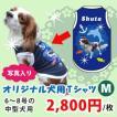 犬服名前入り夏用愛犬の写真、名入れオリジナル中型犬用M(6~8号)プリントTシャツ春夏用