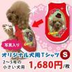 犬服名前入り夏用愛犬の写真、名入れオリジナル小型犬用S(2~5号)プリントTシャツS(2~5号)