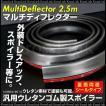 マルチディフレクター スポイラー 汎用/ゴム 250cm ブラック ウレタンゴム <BR>リップスポイラー/リアスポイラー/カナード/等 条件付/送料無料 _45122