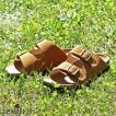 サンダル メンズ コンフォートサンダル 靴 コルク PU レザー スエード おしゃれ オフィス 夏 ベルト 黒 ベージュ ブラウン キャメル ファッション (771316-br) D