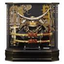 五月人形 伊達政宗 兜ケース飾り 兜飾り 藤翁作 六角勝輝 アクリルケース オルゴール付 h295-fn-165-743
