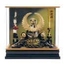 五月人形 徳川家康 着用 兜ケース飾り 兜飾り 藤翁作 着用徳川 アクリルケース h295-fn-155-753