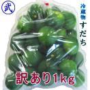 徳島産・訳ありすだち1kg/■ハウス品 徳島より発送 サイズ大・少し色つき・キズ付き
