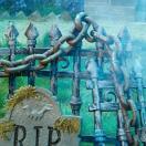 ハロウィン 装飾 飾り デコレーション 肝試し 錆びたジャンボチェーン