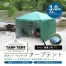 テント タープ タープテント 3m 300 サイドシート3枚セット ワンタッチ ワンタッチテント ワンタッチタープ 日よけ UV加工 ###テントAF3X3-C3###