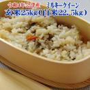 ミルキークイーン 玄米25kg 送料無料 平成30年 会津産  (白米22.5kg ) 「ふくしまプライド。体感キャンペーン(お米)」