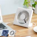 扇風機 DCモータ おしゃれ 卓上扇風機 小型扇風機 USB 乾電池式 コンパクト スリム ミニ デスクファン スタンドファン シンプル サーキュレーター 送風機