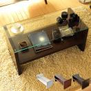 リビングテーブル 長方形 おしゃれ ローテーブル 北欧 ガラス 木製 センターテーブル ガラステーブル 白 ホワイト ブラウン 収納 モダン シンプル 人気 送料無料