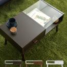 ローテーブル リビングテーブル ガラス 木製 北欧 おしゃれ センターテーブル ガラステーブル 収納 引き出し 白 シンプル モダン ミッドセンチュリー