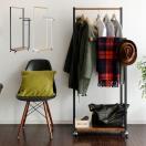 ハンガーラック 木製 おしゃれ スリム ポールハンガー コートハンガー キャスター付き 衣類 収納 北欧 送料無料