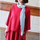 スカーフ レディース ロング丈 シルク混 2017 春夏 50代 40代 ファッション 女性