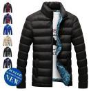 ダウンジャケット キルティングコート 中綿ジャケット コート アウター 防寒 メンズ 秋冬 ビジネス