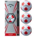 キャロウェイ Callaway CHROME SOFT X TRUVIS WHITE×RED クロームソフト X トゥルービス ゴルフ ボール 1スリーブ 3個入 golf5