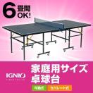イグニオ IGNIO 卓球台 家庭用サイズ 卓球台 移動キャスター付 IG-2PG 0036