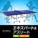 イグニオ IGNIO 卓球台 国際規格サイズ セパレート式 エキスパート&アスリート  移動キャスター付代引可能 IG-2PG0026 PB-2PG0015