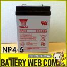 送料無料 6V サイクル バッテリー ユアサ NP4-6 容量 4.0AH 交換 用 電動玩具 電動乗用 おもちゃ 電動バイク 電動カー電池 6ssp4.5 / PE6V4.5 / NP4-6 / 6M4互換