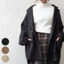 ダブルジャケット コート オーバーサイズ ...