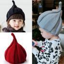 子供ニット帽子とんがり キッズ帽子 子供 裏起毛 ベビー帽子 女の子 男の子  赤ちゃん 帽子 ベビー 帽子 秋冬 ニット帽子  クリスマス  帽子 0-3歳