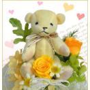 プリザーブドフラワー ラッキーベアー バラ ばら 薔薇 誕生日の花 ギフト プレゼント 贈り物 クリスマス